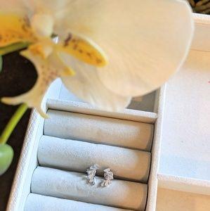 Jewelry - Baguette Diamond Earrings in Silver